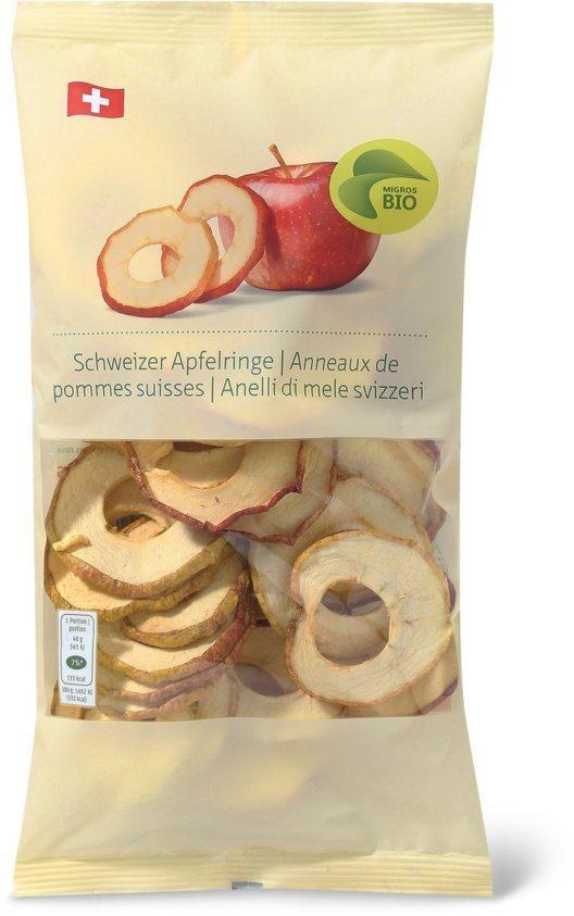 """Migros zieht wegen Sulfit-Spuren die """"Migros Bio Schweizer Apfelringe"""" aus dem Handel zurück. (Bild: © obs/Migros-Genossenschafts-Bund)"""