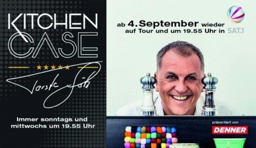 Mit dem KitchenCase auf Mission: Spitzenkoch Torsten Götz. (Bild: SevenOne Media (Schweiz) AG)