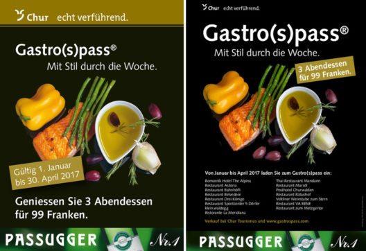 Flyer Gastro(s)pass Chur/Rheintal 2017 (Bild: Chur Tourismus)