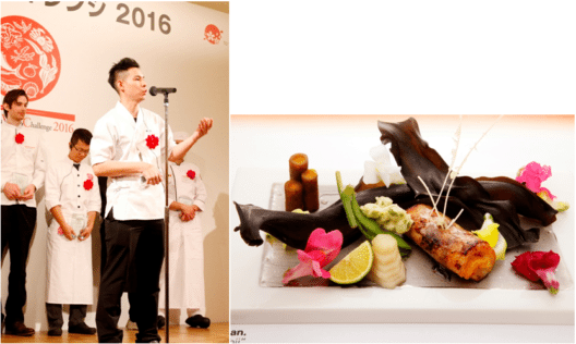 """Das ursprüngliche Gericht """"Akamutsu no kenchin yaki"""", kreiert von Cheong Cherng Long"""