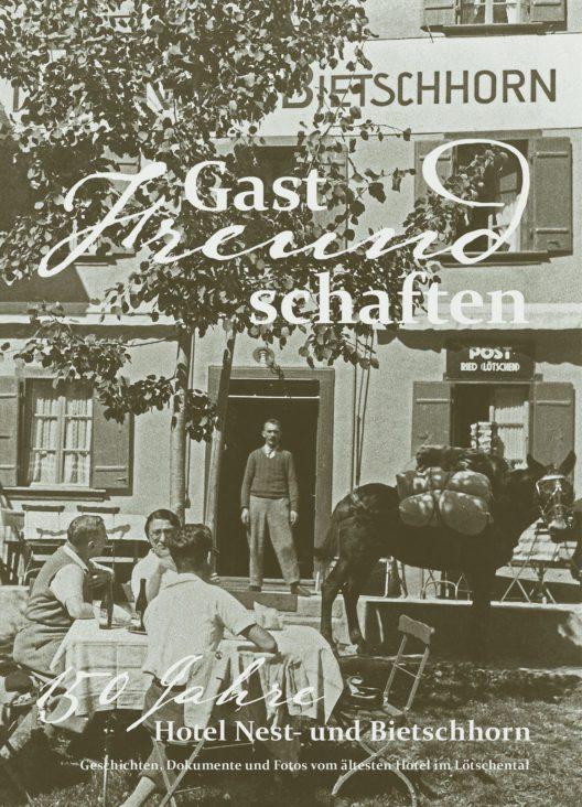Cover Jubiläumsbuch Hotel Nest- und Bietschhorn
