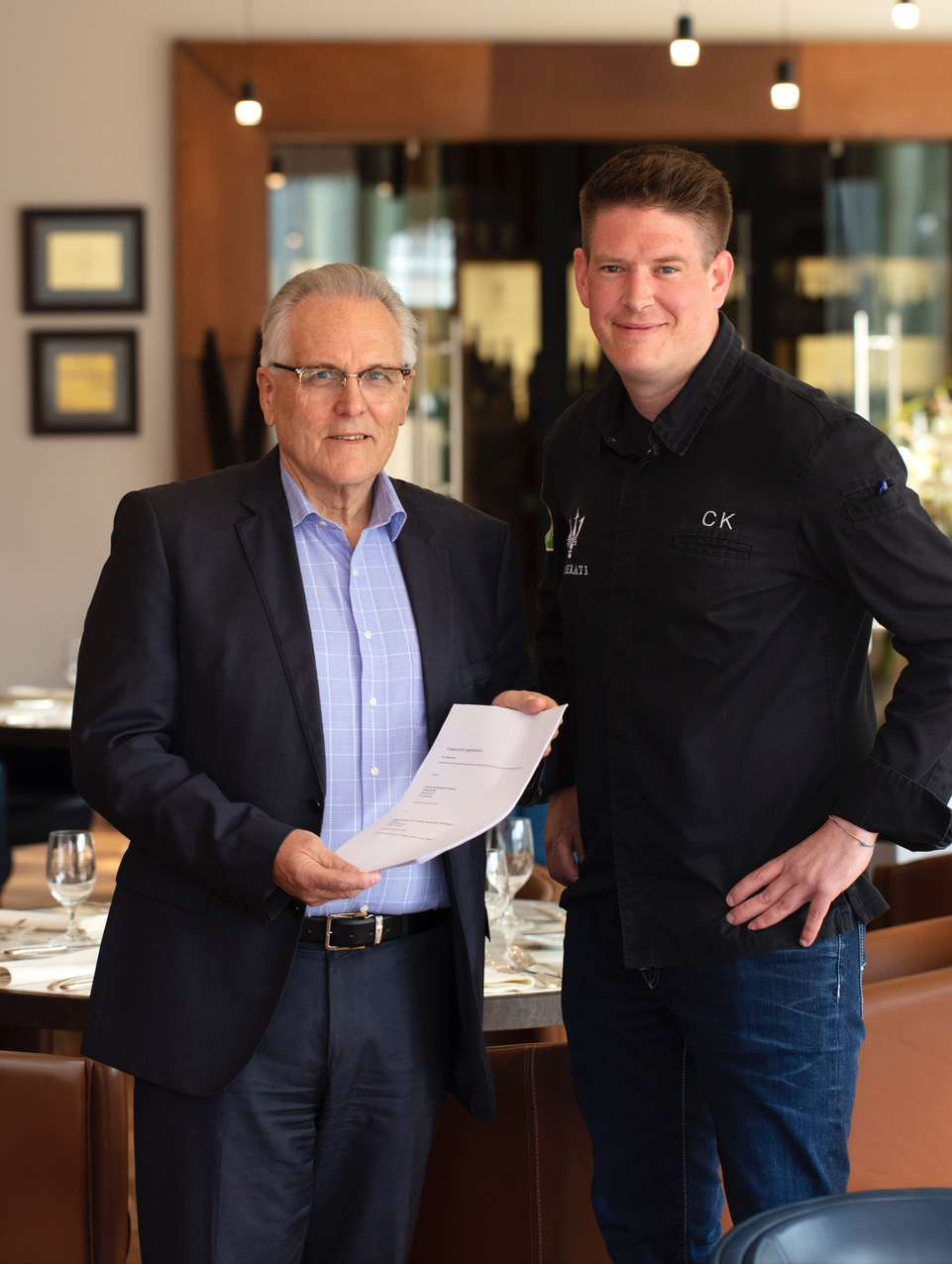 Schweizer Power in Kroatien: v.l.n.r. Peter Schoch, CEO der Lošinj Hotels & Villas sowie Spitzenkoch Christian Kuchler.